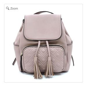 Handbags - NEW Quilted Front Pocket Flapover Backpack